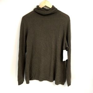 Charter Club  Taupe Cashmere Turtleneck Sweater